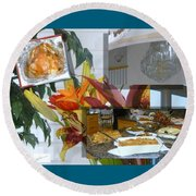 Holiday Collage Round Beach Towel