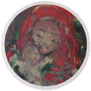 Round Beach Towel featuring the painting Hope  by Laurie L