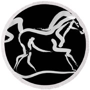 Horse-runner Round Beach Towel