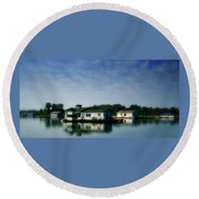 Horseshoe Pond Round Beach Towel