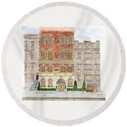 Hotel Washington Square Round Beach Towel