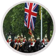 Household Cavalry Life Guards Round Beach Towel