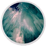 Ice Castle Round Beach Towel by Edward Fielding