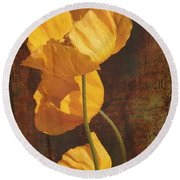 Icelandic Poppy Round Beach Towel