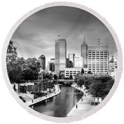 Indianapolis Round Beach Towel by Alexey Stiop