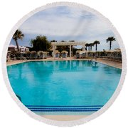Infinity Pool Round Beach Towel
