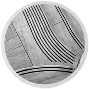 Intersection Of Lines And Curves Round Beach Towel by Gary Slawsky