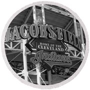 Jacobs Field - Cleveland Indians Round Beach Towel by Frank Romeo