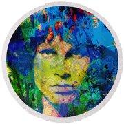 Jim Morrison Round Beach Towel