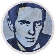 Joe Strummer Round Beach Towel