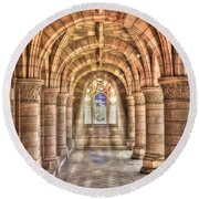 Kelso Abbey Round Beach Towel