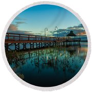 Lake Neatahwanta Round Beach Towel by Everet Regal