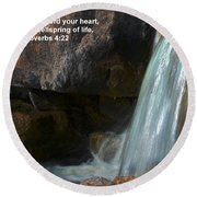Life's Reflections Round Beach Towel by Deb Halloran