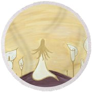 Lilies Of The Field Round Beach Towel