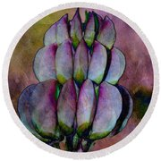 Round Beach Towel featuring the photograph Lupin Blossom by WB Johnston