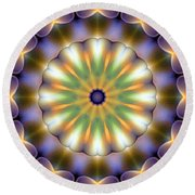 Mandala 105 Round Beach Towel by Terry Reynoldson