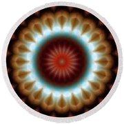 Round Beach Towel featuring the digital art Mandala 83 by Terry Reynoldson