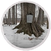 Maple Sugaring Round Beach Towel