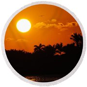 Marco Island Sunset Round Beach Towel