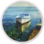 Martinscica Round Beach Towel by Joe Maracic