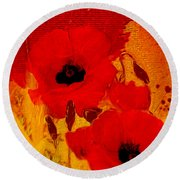 Round Beach Towel featuring the painting Mellow Yellow by Valerie Anne Kelly