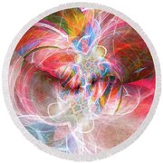 Metamorphosis  Round Beach Towel by Margie Chapman
