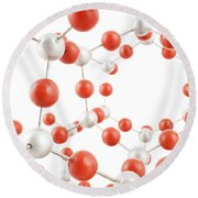 Molecular Model Round Beach Towel