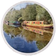 Moored Up Round Beach Towel