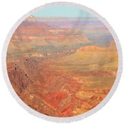 Morning Colors Of The Grand Canyon Inner Gorge Round Beach Towel by Shawn O'Brien