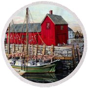 Motif  Number One Round Beach Towel by Eileen Patten Oliver