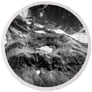 Round Beach Towel featuring the photograph Mt St. Helen's Crater by David Millenheft