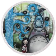 My Friend Round Beach Towel by Abril Andrade Griffith