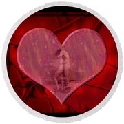 My Hearts Desire Round Beach Towel