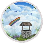 My Wishing Place Round Beach Towel