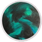 Round Beach Towel featuring the painting Northern Light by Jacqueline McReynolds