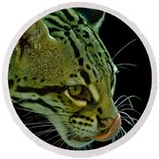 Ocelot Round Beach Towel