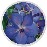 Orchids Round Beach Towel