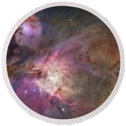Orion Nebula Round Beach Towel