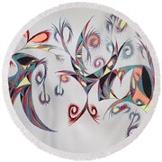 Orpheus Round Beach Towel by Robert Nickologianis
