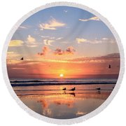 Painted Sky Round Beach Towel