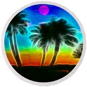 Round Beach Towel featuring the photograph Paradise by Tammy Espino