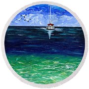 Peaceful Round Beach Towel