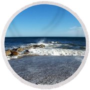 Round Beach Towel featuring the photograph Plum Island Landscape by Eunice Miller
