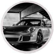 Porsche 911 Gt3 Round Beach Towel