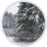 Round Beach Towel featuring the photograph Powdered Sugar by Eunice Miller