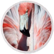 Pretty Flamingo Round Beach Towel