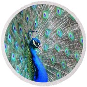 Round Beach Towel featuring the photograph Proud by Deena Stoddard