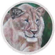 Queen Of The Beast,lioness Round Beach Towel