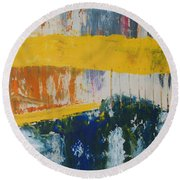 Raw Energy Round Beach Towel