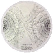 Relativity Round Beach Towel